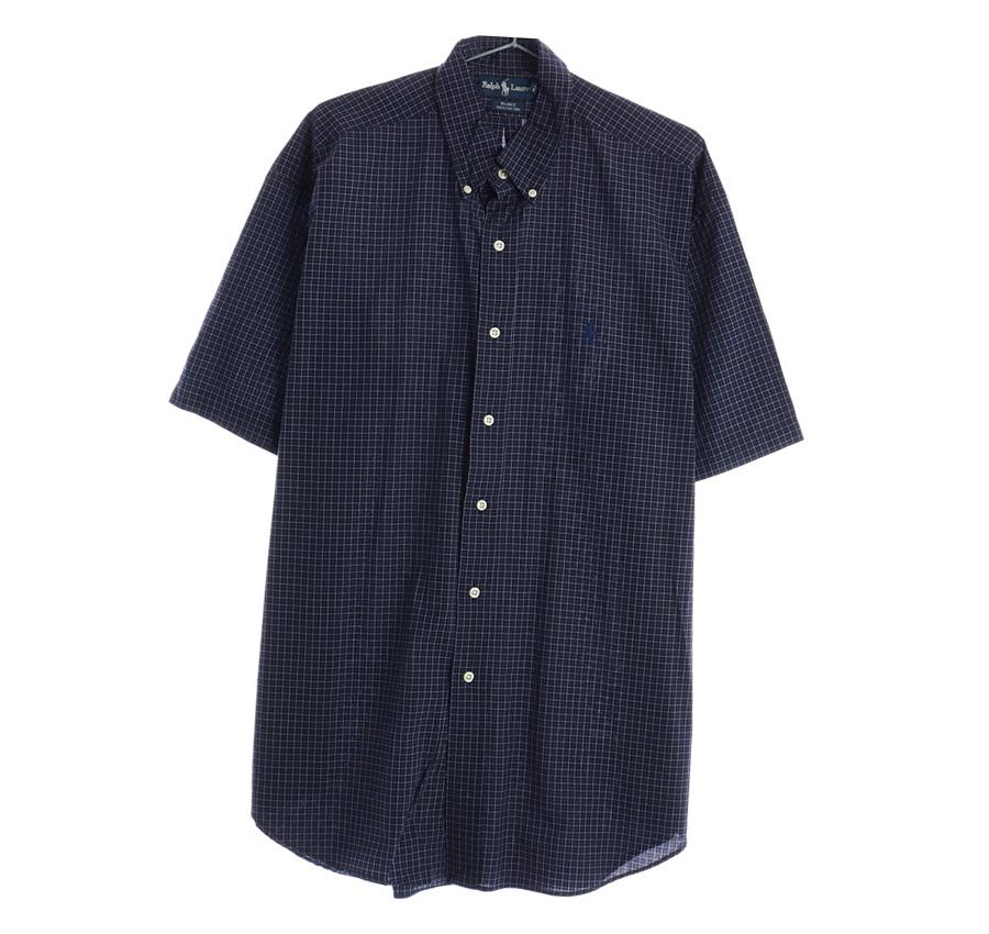 TOMMY HILFIGER체크 반팔 셔츠     1462n   UNISEX(M)