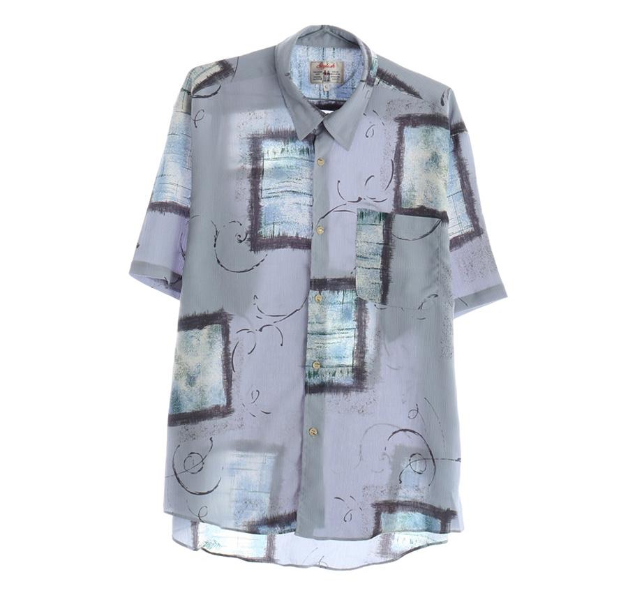 RALPH LAUREN스트라이프 반팔 셔츠     1468n   UNISEX(L)
