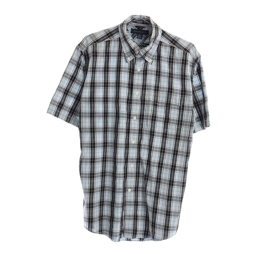 TOMMY HILFIGER패턴 반팔 셔츠     1681n   UNISEX(XL)