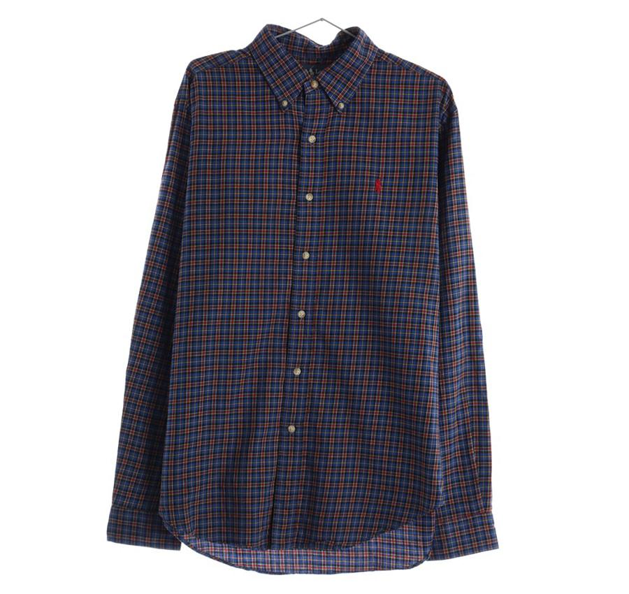 RALPH LAUREN체크 셔츠     188n   UNISEX(L)