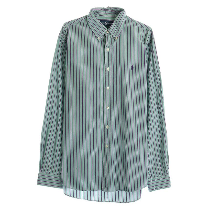 RALPH LAUREN스트라이프 셔츠     190n   UNISEX(XL)