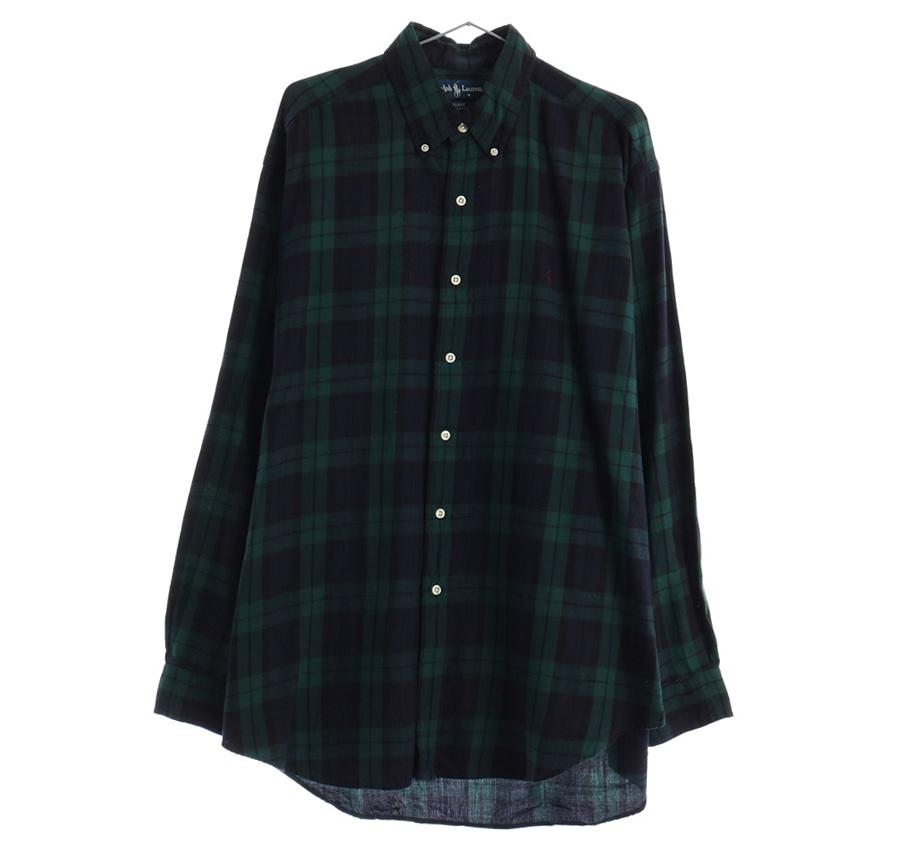 LACOSTE체크 셔츠     210n   UNISEX(L)